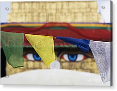 Boudhanath Stupa Prayer Flags Acrylic Print by Tim Gainey