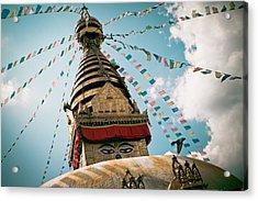 Boudhnath Stupa In Nepal Acrylic Print