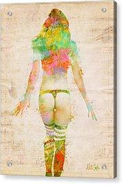 Boudoir Sonata Acrylic Print by Nikki Smith