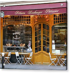 Boulangerie Acrylic Print by A Morddel