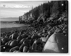 Boulder Beach Bw Acrylic Print