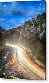 Boulder Canyon Neon Light  Acrylic Print by James BO  Insogna