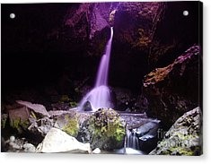 Boulder Cave Falls  Acrylic Print by Jeff Swan