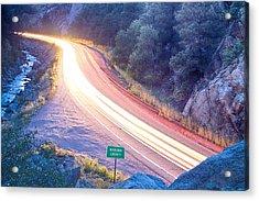 Boulder County Colorado Blazing Canyon View Acrylic Print by James BO  Insogna