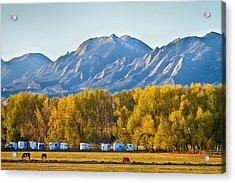 Boulder County Colorado Flatirons Autumn View Acrylic Print