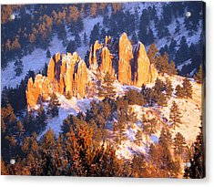 Boulder Red Rocks Glowing Acrylic Print