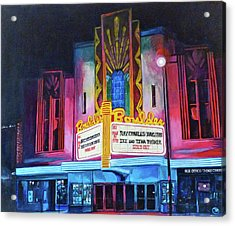 Boulder Theater Acrylic Print by Tom Roderick
