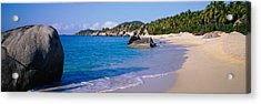 Boulders On The Beach, The Baths Acrylic Print by Panoramic Images