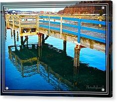 Boulevard Blue Acrylic Print