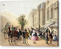 Boulevard Des Italiens From Physionomies De Paris Acrylic Print by Eugene Charles Francois Guerard