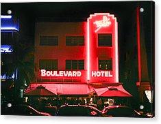 Boulevard Hotel Acrylic Print