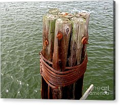Bound And Bolted Acrylic Print by Ed Weidman