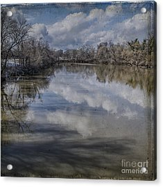 Boundary Channel Reflections Acrylic Print by Terry Rowe