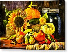 Bountiful Harvest Van Gogh Style Acrylic Print by Edward Fielding