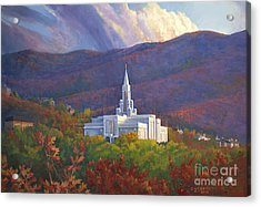 Bountiful Temple In The Mountains Acrylic Print by Rob Corsetti