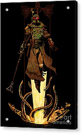 Bounty Hunter Rising Acrylic Print by Brian Kesinger
