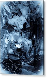 Bouquet And Beads Acrylic Print by DigiArt Diaries by Vicky B Fuller