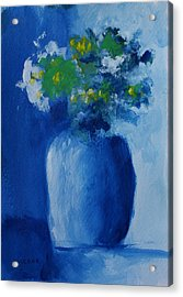 Bouquet In Blue Shadow Acrylic Print