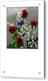 Bouquet In Red White And Blue Acrylic Print by Randi Grace Nilsberg