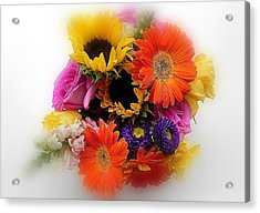 Bouquet Of Color Acrylic Print