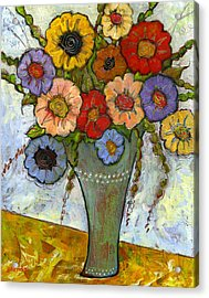 Bouquet Of Flowers Acrylic Print by Blenda Studio