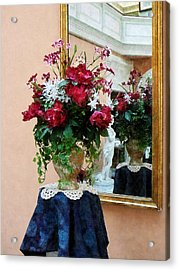 Bouquet Of Peonies With Reflection Acrylic Print by Susan Savad
