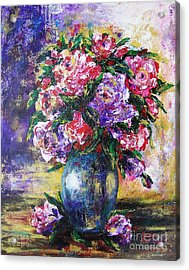 Acrylic Print featuring the painting Bouquet Of Scents by Vesna Martinjak
