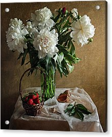 Bouquet Peonies Flowers Acrylic Print