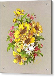 Bouquet  Acrylic Print by Ruth Seal