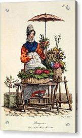 Bouquetiere Des Bouquets Pour Margot Acrylic Print by Carle Vernet