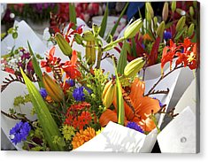 Bouquets Of Color Acrylic Print