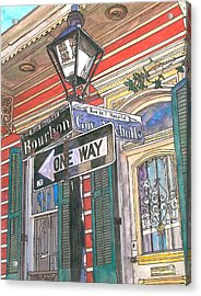 Bourbon And Nicholls Acrylic Print by John Boles