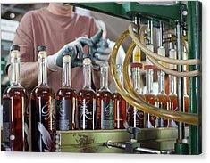 Bourbon Bottling Production Line Acrylic Print by Jim West