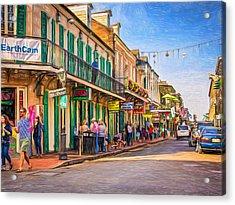 Bourbon Street Afternoon - Paint Acrylic Print by Steve Harrington