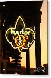 Bourbon Street Bar New Orleans Acrylic Print by Saundra Myles