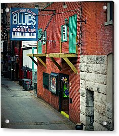 Bourbon Street Blues Acrylic Print by Linda Unger