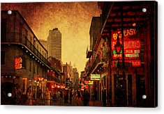 Bourbon Street Grunge Acrylic Print