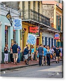 Bourbon Street - Let The Good Times Roll Acrylic Print by Steve Harrington