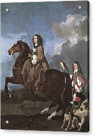 Bourdon, S�bastien 1616-1671. Christina Acrylic Print by Everett