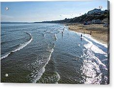 Bournemouth Beach Acrylic Print by Svetlana Sewell