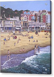 Bournemouth Boscombe Beach Sea Front Acrylic Print