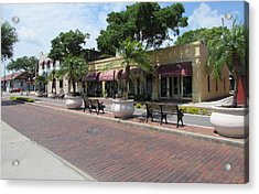 Boutiques In Tarpon Springs Acrylic Print by Nancy Hopkins