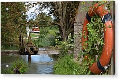 Bouy By Canal Acrylic Print