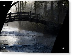 Bow Bridge At Valley Forge Acrylic Print by Bill Cannon