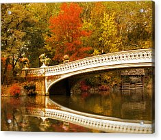 Acrylic Print featuring the photograph Bow Bridge Beauty by Jessica Jenney