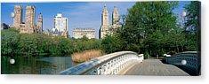 Bow Bridge, Central Park, Nyc, New York Acrylic Print