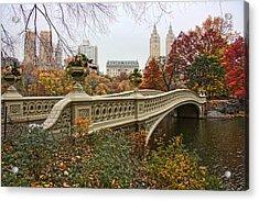 Bow Bridge In Central Park Acrylic Print