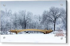 Bow Bridge In Central Park Nyc Acrylic Print