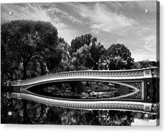Bow Bridge In Monochrome Acrylic Print by Jessica Jenney