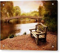 Bow Bridge Nostalgia 2 Acrylic Print by Jessica Jenney